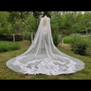 Wedding Cathedral Lace Veil Cape